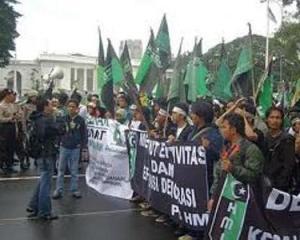 """HMI DI GELANGGANG UNJUK RASA. """"Dapat dikatakan, menjadi aktivis sekarang ini kurang"""