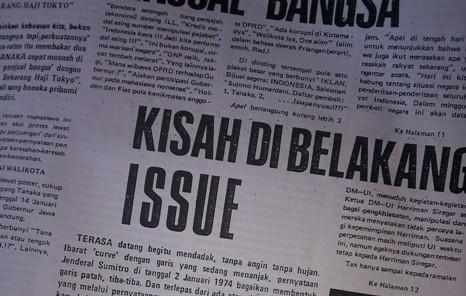 'Kisah Di Belakang Issue' Menjelang Peristiwa 15 Januari 1974