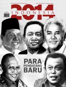 PENDATANG BARU VERSI MAJALAH 'INDONESIA 2014'. Antara lain Chairul Tandjung selain Pramono Edhie Wibowo dan Hatta Rajasa.