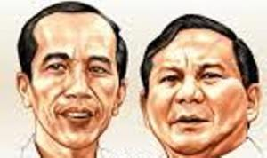 """JOKOWI DAN PRABOWO. """"Seharusnya, pemimpin Indonesia dalam perjalanan menuju masa depan, memiliki pemahaman yang mendalam tentang masalah-masalah makro dan mikro sekaligus. Kalau itu tidak ditemukan dalam satu figur, setidaknya dimiliki kepemimpinan dalam satu tim. Terlepas dari itu, sejauh ini dari mereka berdua pun belum tampil gagasan lengkap dan meyakinkan mengenai pembaharuan politik dan cara menjalankan kekuasaan yang justru merupakan kebutuhan esensial dalam menjawab tantangan masa depan Indonesia."""" (gambar download)"""
