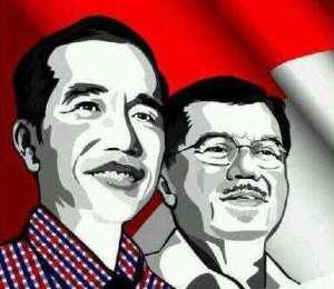 "POSTER JOKO WIDODO DAN JUSUF KALLA. ""Presiden Joko Widodo dan Wakil Presiden Jusuf Kalla ke depan akan memerintah di tengah 'lautan' gubernur, bupati dan walikota pilihan Koalisi Merah Putih. Dan itu tampaknya akan terjadi setelah disahkannya undang-undang yang mengatur pemilihan kepala daerah melalui DPRD, kecuali manuver untuk memecah Koalisi Merah Putih berhasil dijalankan oleh Jokowi dan Jusuf Kalla beserta partai-partai pendukungnya."""