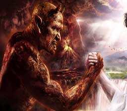 """IBLIS DAN TANGAN ORANG SUCI. """"Iblis merangkul orang-orang berdosa tetapi juga mengetuk pintu kamar orang-orang suci. Tidak ada orang suci, betapa pun sucinya, yang tidak lagi berurusan dengan Iblis. Orang-orang suci masih selalu menghadapi godaan-godaannya dan selalu berjuang menolaknya. Kesucian bukanlah keadaan. Kesucian adalah tindakan terus menerus."""" (download traduccionlenguadeeuropa)"""