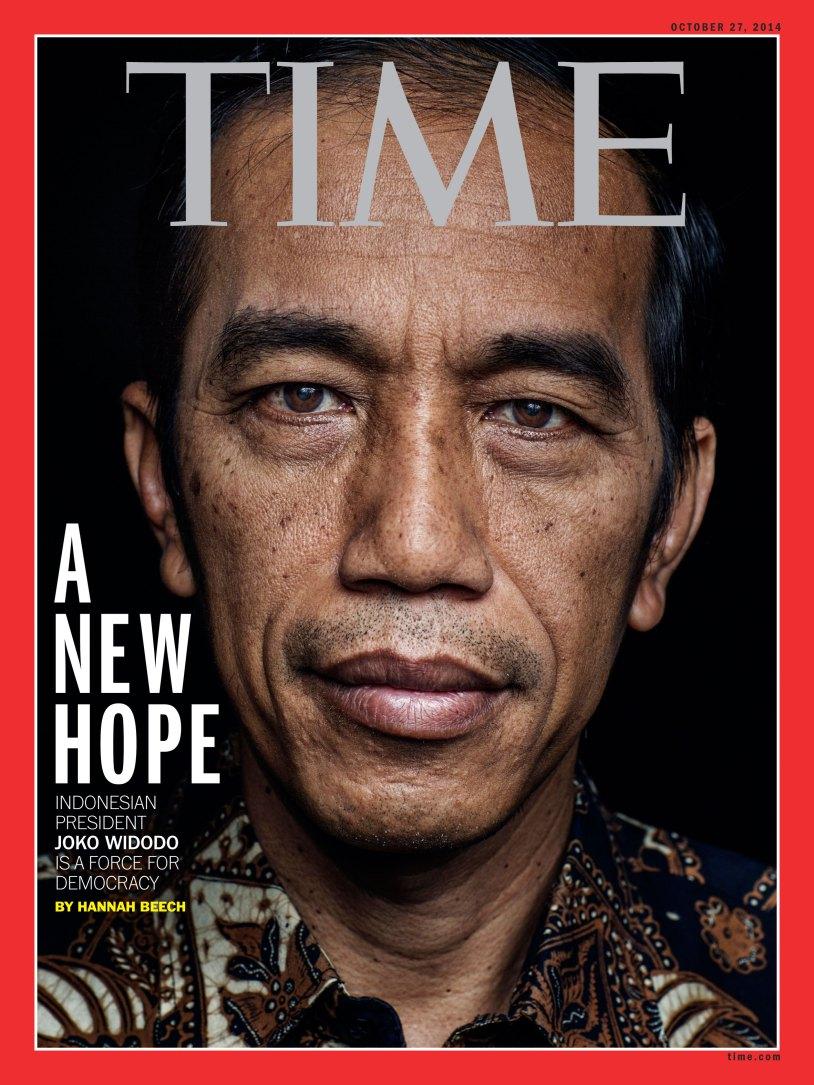 """JOKOWI DALAM SAMPUL TIME SEBAGAI A NEW HOPE """"Bahwa Presiden Jokowi"""
