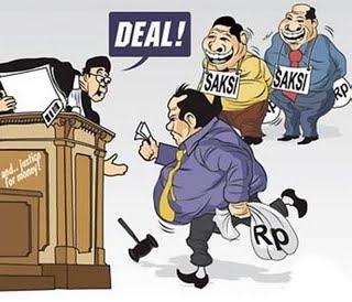 Karikatur Korupsi Hitam Putih