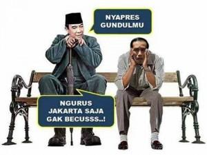 Perhatikan gambar karikatural Soekarno dan Jokowi ini. Tetapkan dalam hati anda, ini penghinaan atau bukan? Begitu pula gambar-gambar lain di halaman ini.