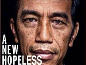 JOKOWI, A NEW HOPELESS. Plesetan cover Majalah Time.